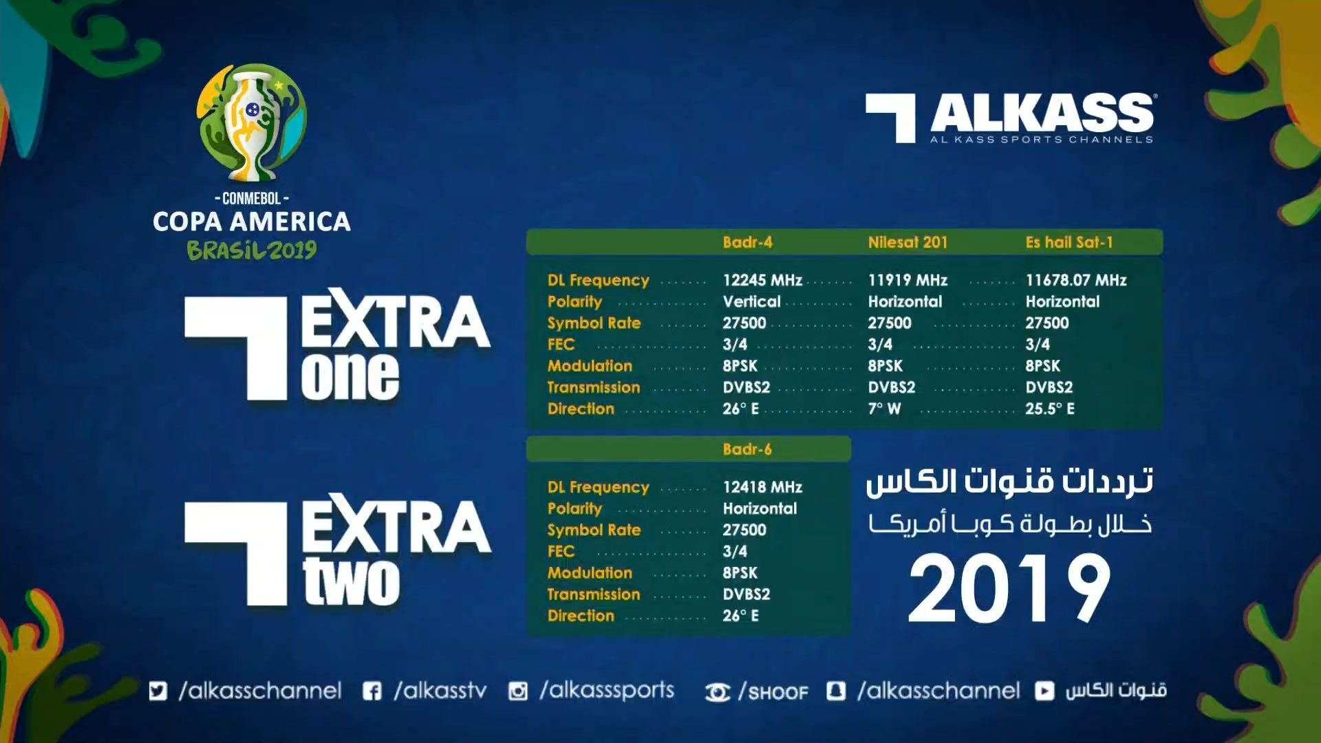 Al Kass at Nilesat and Arabsat Badr — قنوات الكأس