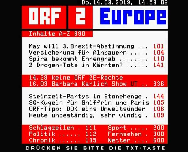 Télétexte ORF2E