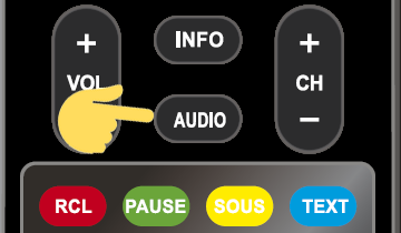 touche audio télécommande