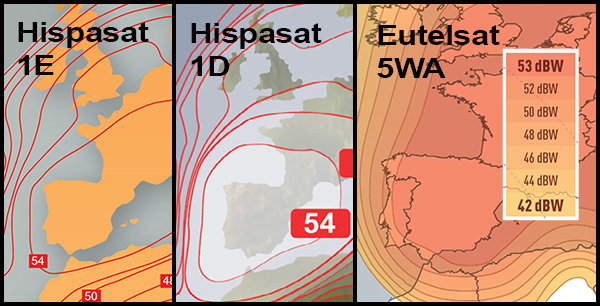 Sud du Portugal, Hispasat vs E5WA