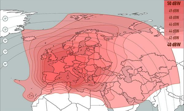 Eutelsat 9A Wide Beam
