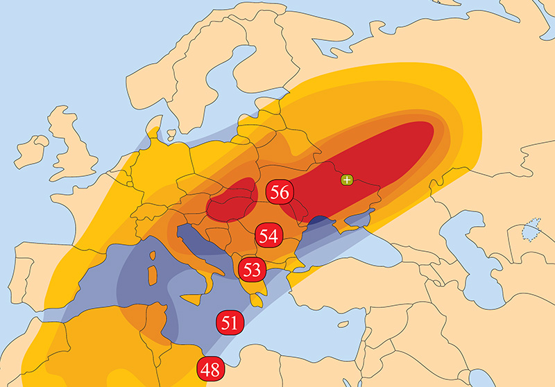 Zone de couverture Amos 7 CEE