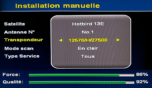niveaux signal TP 12576 H 27500