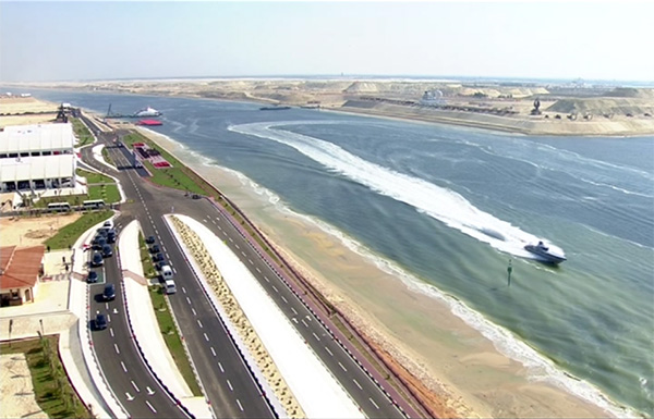 New Suez Canal émission