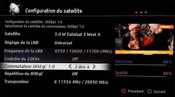 Réglage antenne 11554 H