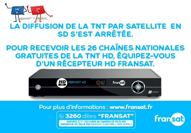 cartel fin emisión SD Fransat