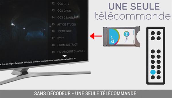 Module CI+ Fransat, sans décodeur, 1 télécommande