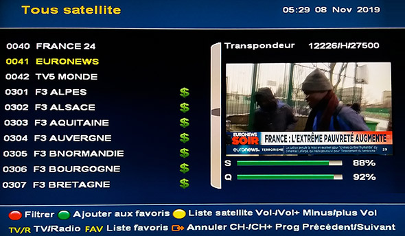 12226/H/27500 EURONEWS FRENCH SD