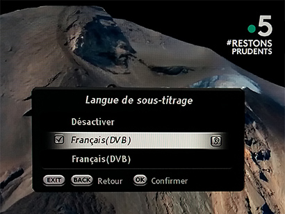menu sous-titres France 5 #Restons prudents