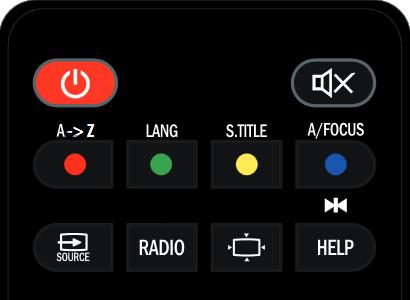 Botón subtítulos mando Meosat Connect