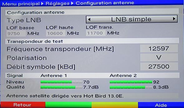 TP Test Hot Bird 12597 V