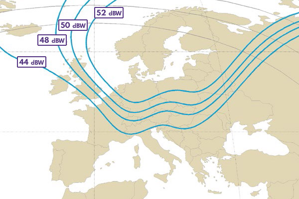 Thor 6 K1 curvas EIRP en dBW