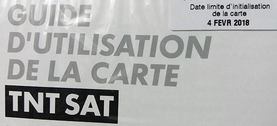 date limite initialisation carte TNT Sat