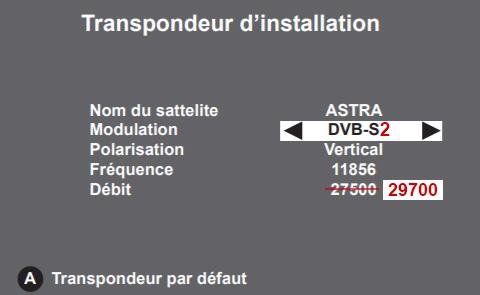 transpondeur installation