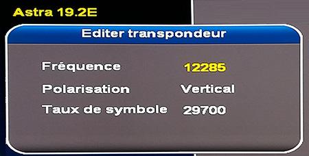 TP 12285 V 29700 EDIT Astra 19,2° Est