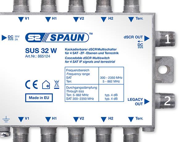Spaun SUS32 W sortie dSCR et Legacy